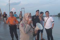 Pakai Pengeras Suara, Polisi Imbau Warga Tidak Mandi di Lokasi Banjir