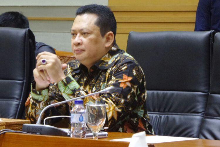 Ketua Komisi III DPR, Bambang Soesatyo di Kompleks Parlemen, Senayan, Jakarta, Rabu (6/9/2017).