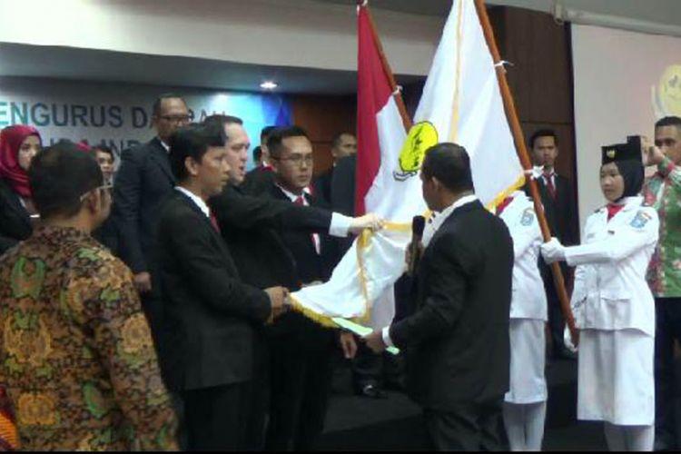 Pengurus HIPMI Kepulauan Bangka Belitung dilantik di kantor gubernur setempat.