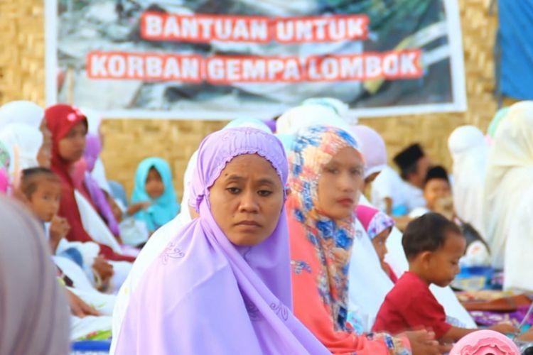 Lombok Barat, suasana Sholat Idul Adha  di Desa Kekait Lombok Barat, berlangsung hikmad