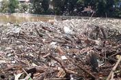 Sampah dari Hulu Ciliwung Menumpuk di Kampung Melayu