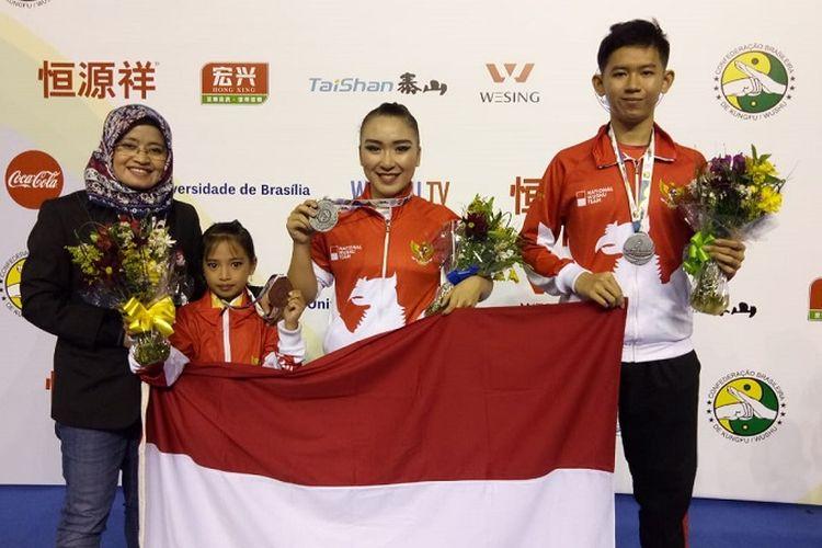 Kontingen Wushu Indonesia Raih 10 Medali pada Kejuaraan Dunia Junior