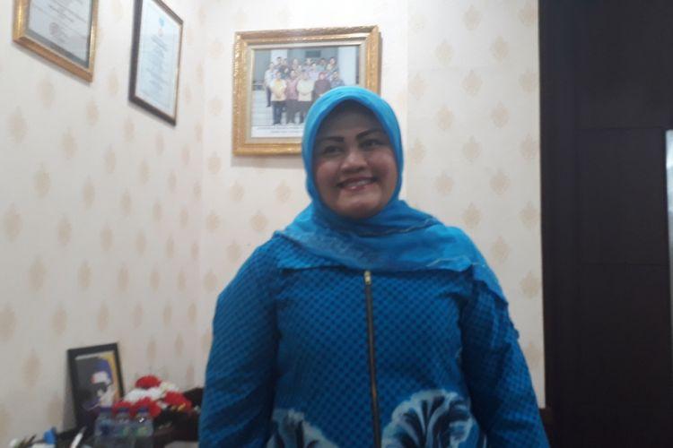 Bupati Bekasi Neneng Hassanah Yasin saat ditemui di Kantor Bupati Bekasi, Kabupaten Bekasi, Senin (15/10/2018).