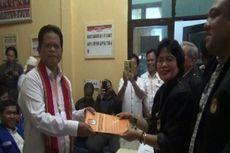 Pasangan Ramlan-Marthinus Mendaftar ke KPU Mamasa, Tampak PNS dan Kades Ikut Hadir