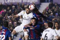 Levante Vs Real Madrid, Dua Penalti Buat El Real Bawa Pulang 3 Poin