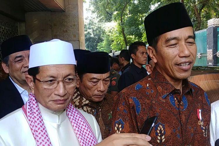 Presiden Joko Widodo usai shalat Jumat di Masjid Istiqlal, Jakarta, Jumat (2/3/2018).