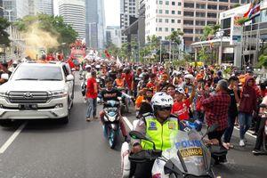 Parade Juara, Persija Jakarta Bawa Tiga Trofi