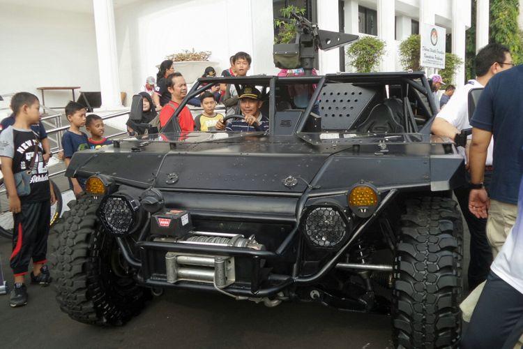 Kendaraan serbu P6 ATAV yang dipamerkan di Kementerian Pertahanan, Jakarta Pusat, Minggu (13/8/2017).