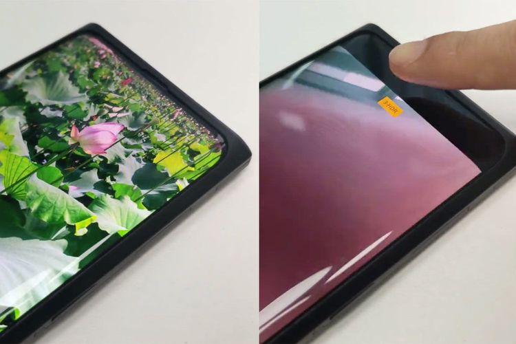 Ilustrasi under-display camera Oppo