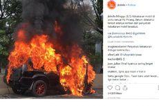 Korsleting Listrik, Mobil Nissan X-trail Terbakar di Lebak Bulus