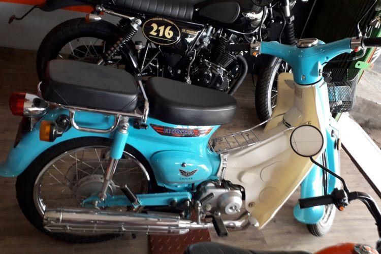 Salah satu unit Gazelo 125 yang dipajang di bengkel Mr Classic yang berlokasi di Jalan Raya Bogor, Cimanggis, Depok.