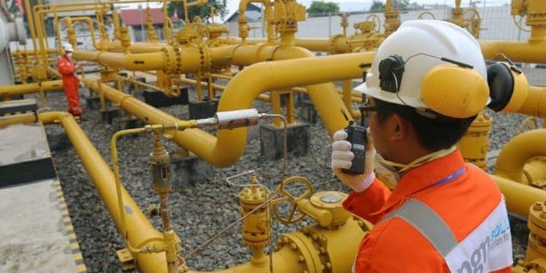 Ilustrasi di lapangan Perusahaan Gas Negara (PGN)