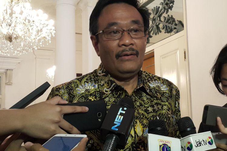 Gubernur DKI Jakarta Djarot Saiful Hidayat di Balai Kota DKI Jakarta, Jalan Medan Merdeka Selatan, Jumat (18/8/2017).