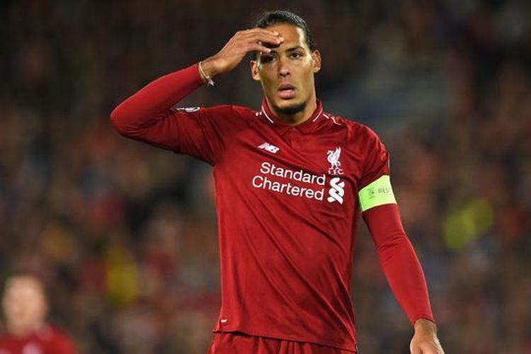 Virgil Van Dijk tampil sebagai kapten Liverpool, Kamis (2/5/2019)