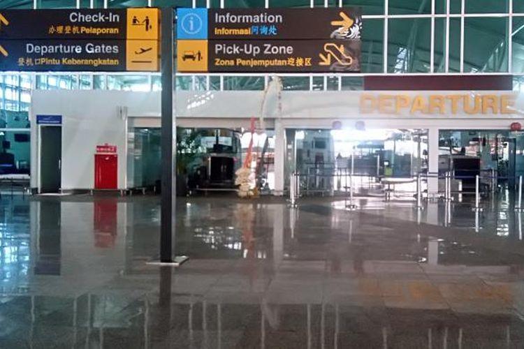 Suasana Nyepi di Bandara Ngurah Rai, Rabu (9/3/2016) lalu.