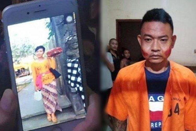 Bagus Putu Wijaya pelaku pembunuhan Putu Yuniawati di kamar hotel (TRIBUN BALI)