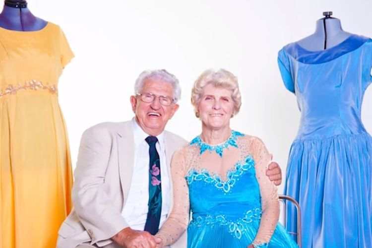 Paul Brockman (83) bersama istrinya Margot.