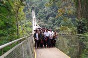 Diresmikan Luhut Binsar, Inilah Jembatan Gantung Terpanjang di Asia Tenggara