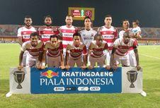 Hasil Babak 16 Besar Piala Indonesia, Madura United Menang 5 Gol atas Sriwijaya FC