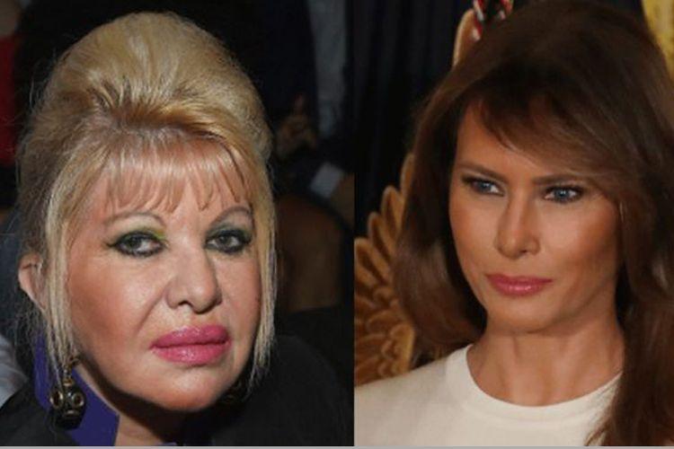 Ivana (kiri) dan Melania Trump (kanan)