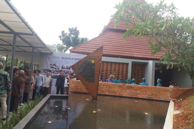 Peresmian Mushala Teknik Next Level di kampus Fakultas Teknik UI, Depok, Jumat (8/2/2019).