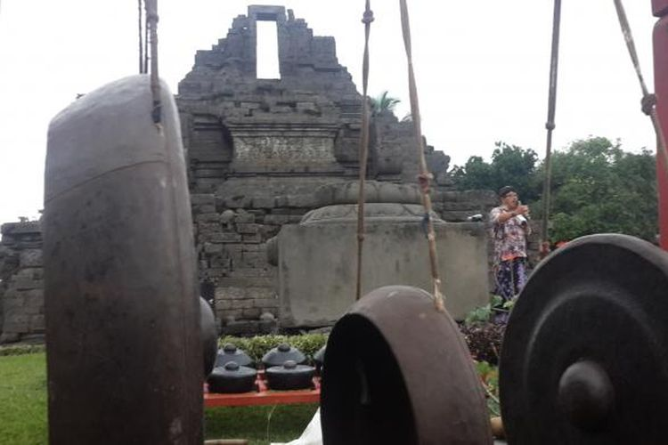 Candi Jago di Kecamatan Tumpang, Kabupaten Malang, Jawa Timur saat diambil beberapa waktu lalu.