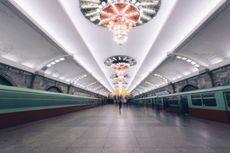 Mewahnya Stasiun Kereta Bawah Tanah di Korea Utara