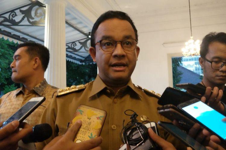 Gubernur DKI Jakarta Anies Baswedan di Balai Kota DKI Jakarta, Jalan Medan Merdeka Selatan, Senin (4/2/2019).
