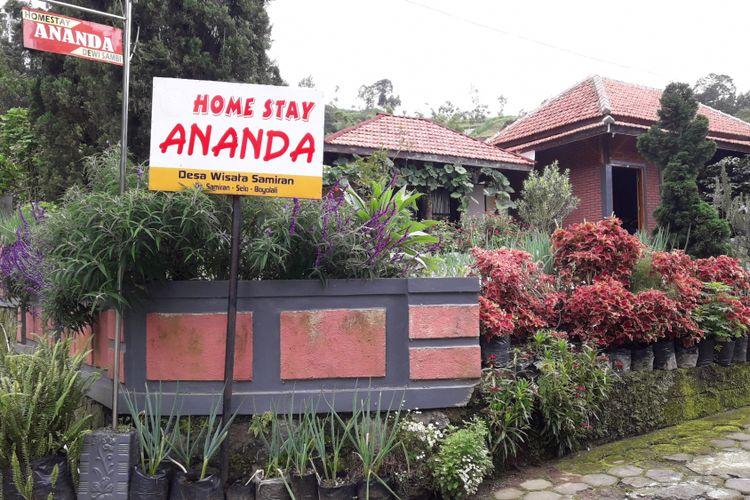 Homestay di Desa Samiran, Kabupaten Boyolali, Jawa Tengah.