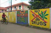 Melihat Warna-warni Mural di Tembok Mako Brimob Kelapa Dua