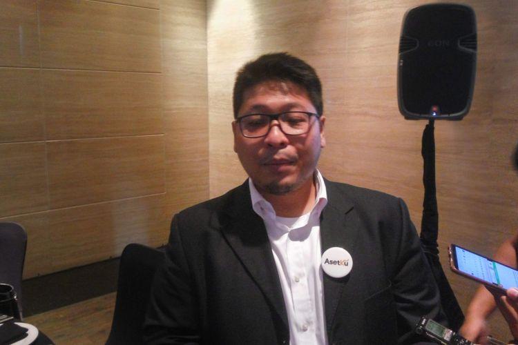 Direktur Asetku, Andrisyah Tauladan di Jakarta, Senin (11/2/2019).