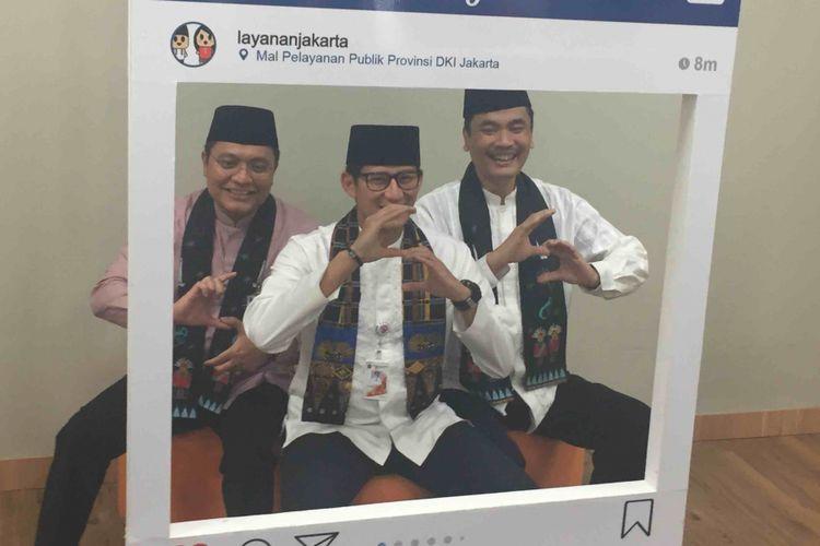 Wakil Gubernur DKI Jakarta Sandiaga Uno saat menghadiri HUT Dinas  Penanaman Modal  dan Pelayanan Terpadu Satu Pintu (DPMPTSP) di Mal Pelayanan Publik, Jakarta Selatan, Jumat (12/1/2018).