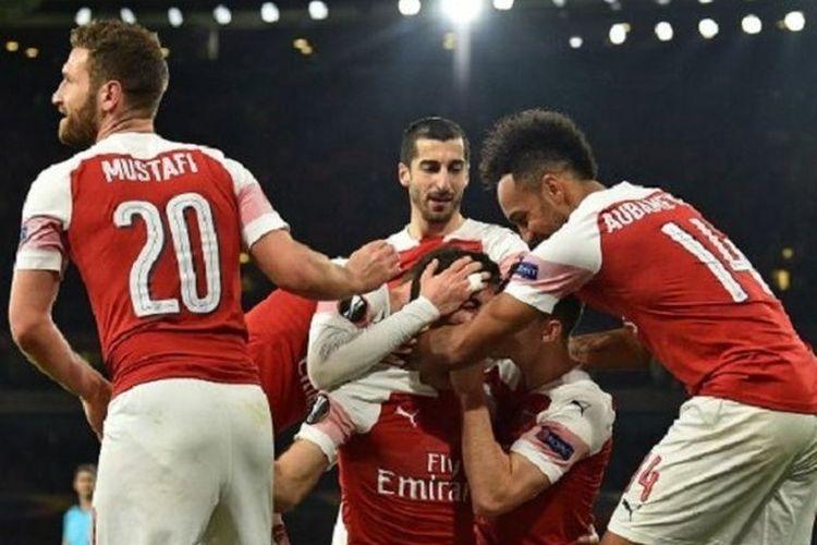Arsenal akan menghadapi rasksasa Italia, Napoli, dalam leg pertama babak perempatfinal Liga Europa, Kamis (11/4/2019)