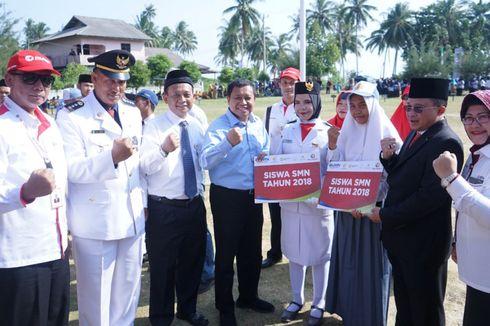 Pelindo 1 Gelar Upacara HUT RI di Pulau Terluar Indonesia