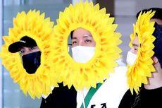 Tiba Kembali di Korea Selatan, Tiga Member BTS Jadi Bunga Matahari