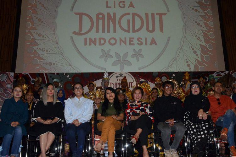 Jumpa pers Liga Dangdut Indonesia di SCTV Tower, Senayan, Jakarta Selatan, Jumat (12/1/2010).