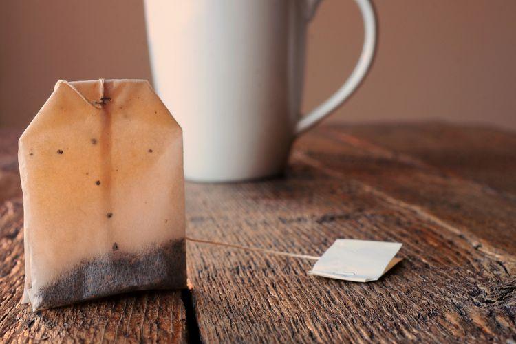 Ilustrasi kantong teh