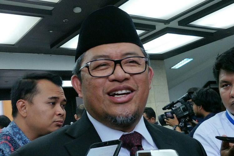 Politisi PKS sekaligus Gubernur Jawa Barat, Ahmad Heryawan ketika ditemui di Kantor Kementerian Dalam Negeri RI, Jakarta, Rabu (25/4/2018).