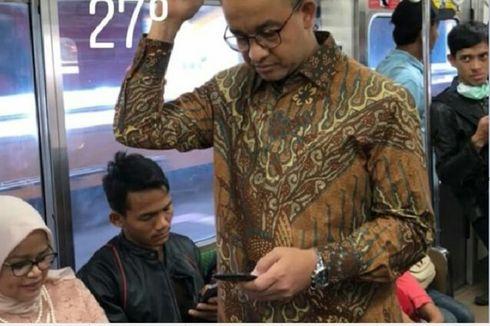 Anies Naik KRL ke Pernikahan Putri Bambang Widjoyanto