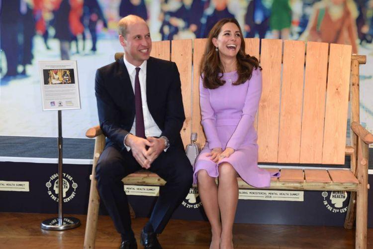 Kate Middleton dan Pangeran William saat menghadiri KTT  kesehatan mental