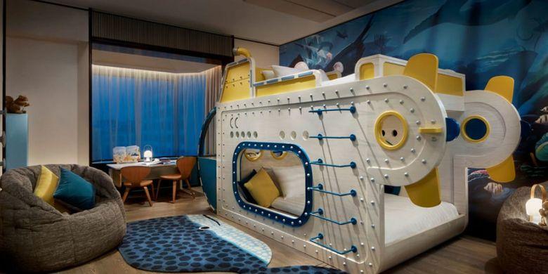 kamar suite anak-anak di Shangri-La Singapura. (CNN Travel)