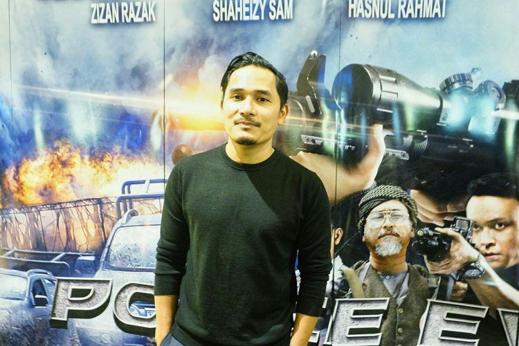 Artis peran Tanta Ginting dalam special screening film Police Evo di XXI Senayan City, Jakarta Pusat, Senin (15/4/2019).