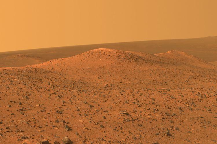 Gambaran Dataran Planet Mars