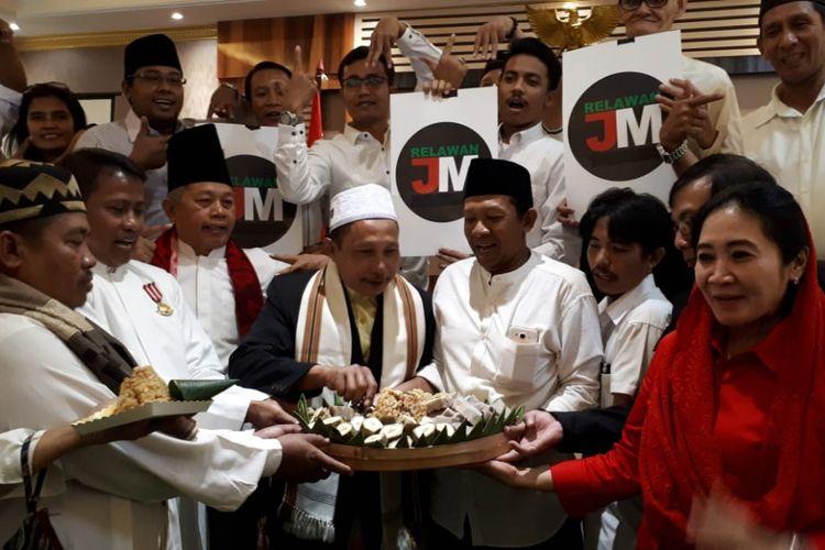 Relawan Jokowi-Maruf Amin Surabaya menggelar deklarasi pemenangan.
