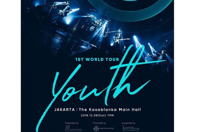 Poster tur konser DAY6 bertajuk Youth.