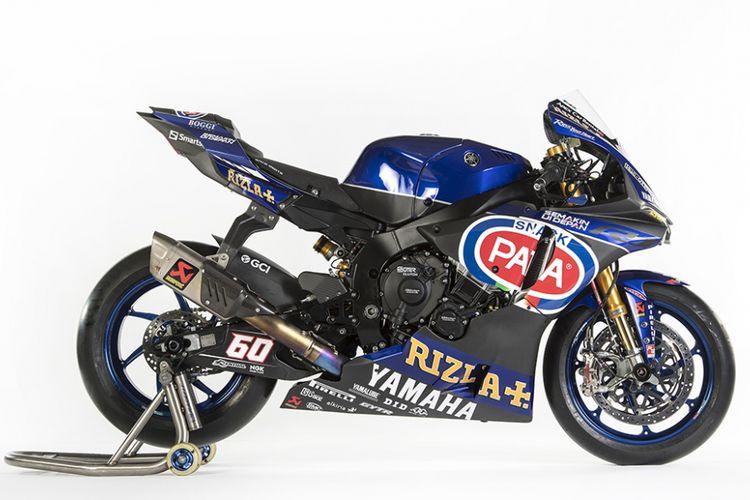 Sepeda motor Yamaha di WSBK 2018, menghadirkan tagline Yamaha Semakin di Depan