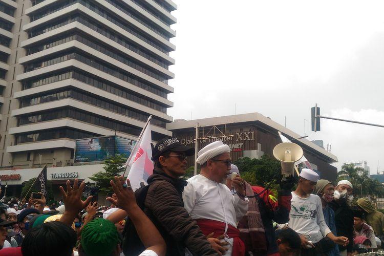 Aksi massa di depan Gedung Bawaslu di Jakarta Pusat, Rabu (22/5/2019).