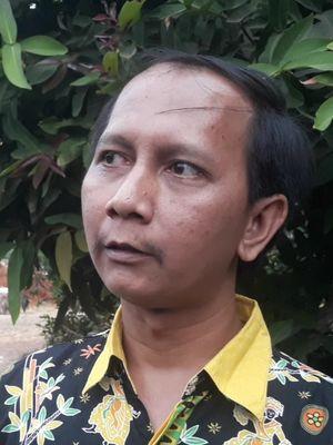 Penjaga Sekolah SDN 02 Kramat Jati, Andri di Kramat Jati, Jakarta Timur, Kamis (8/8/2019).
