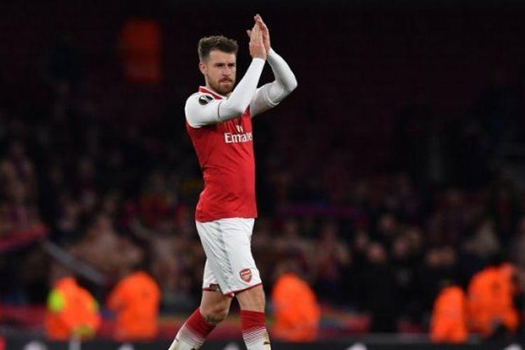 Aaron Ramsey saat berlaga di Liga Europa bersama Arsenal, Rabu (1/5/2019)