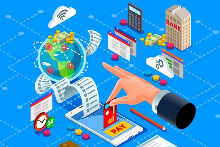 Ilustrasi pajak pedagang online